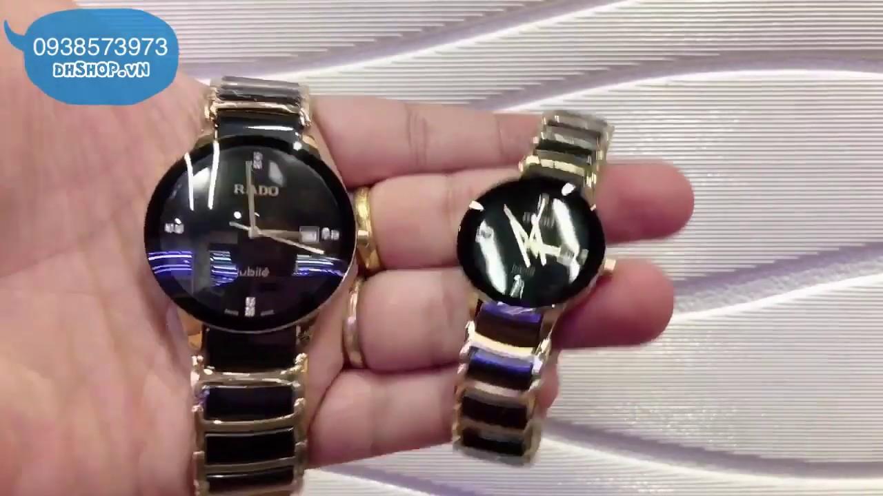 Đồng hồ thời trang Rolex mặt kính saphire màu đen , dây đá ciramic đen, viền inox xách tay Thái Lan.