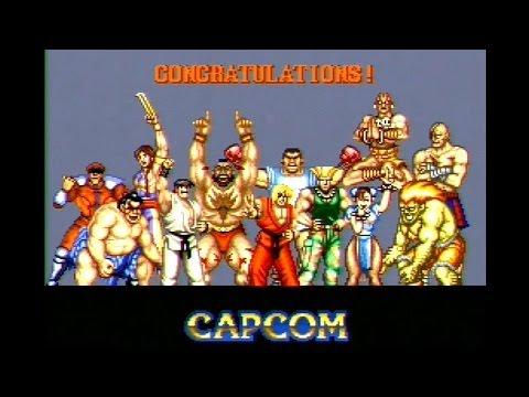 Street Fighter 2 SNES All The Endings HARD Super Nintendo