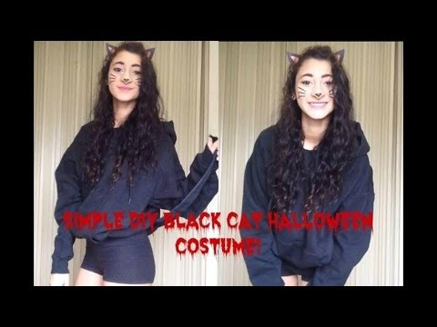 diy black cat halloween costume youtube