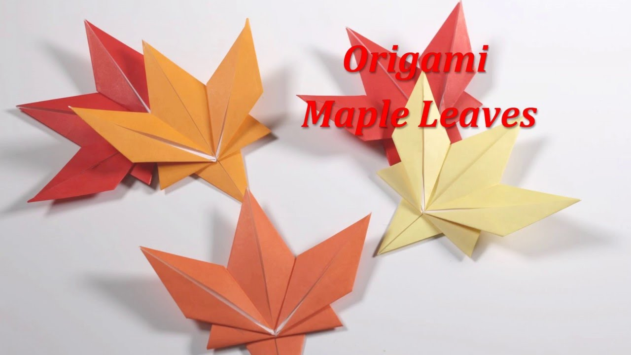 origami maple leaf youtube