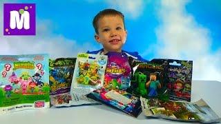 Моши Монстерс Миньоны Майнкрафт игрушки сюрпризы распаковка Minecraft Minions surprise unboxing