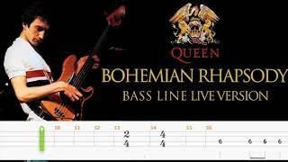 Queen – Bohemian Rhapsody (Official Live Bass Tabs) By John Deacon