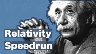 Relativity Speedrun: From Scratch to E=mc²
