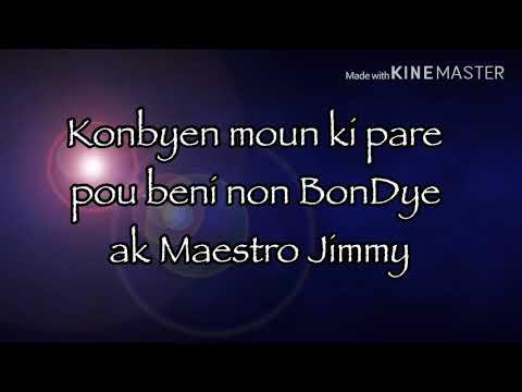 Mwen beni non w' Jezi - James Jessey Joseph feat. Past Gary St Hubert (Lyrics video)