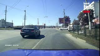Видео момента сегодняшней аварии на Ворошилова от первого лица