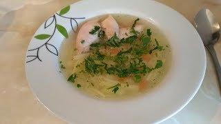 Вермишелевый суп на курином бульоне ! Легкий куриный суп - пошаговый рецепт приготовления