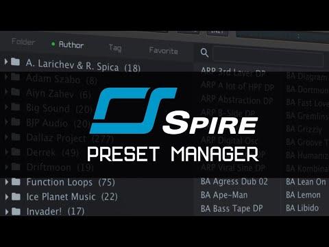 Spire v1.5.0 Preset Manager
