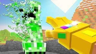 THANOS INFINITY GAUNTLET DESTROYS MINECRAFT! (ENDGAME)