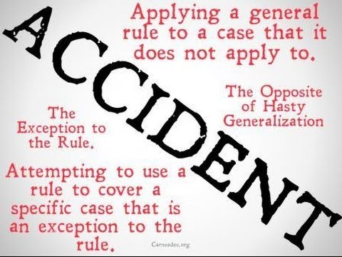 Fallacy Of Accident Youtube