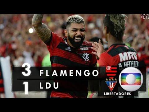 Flamengo 3 x 1 L.D.U - Gols & Melhores Momentos (Globo HD) Libertadores 13/03/19
