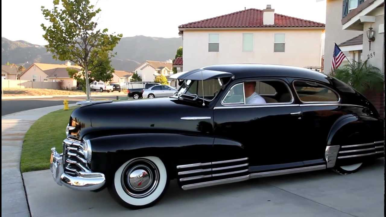 Coupe 1948 chevy stylemaster coupe for sale : 1948 Chevrolet Fleetline Aerosedan - YouTube