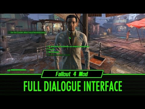 Fallout 4 Mod: Full Dialogue Interface