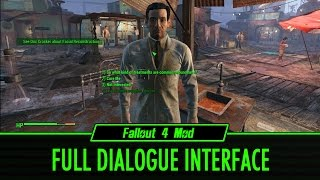 Fallout 4 Mod Full Dialogue Interface