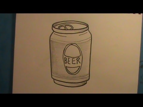 how to draw a can of beer youtube