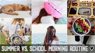 Summer vs. School MORNING ROUTINE! 2015