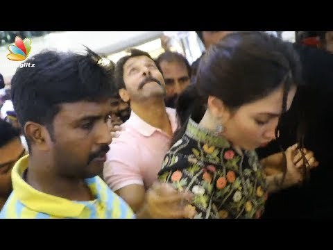 Vikram and Tamana attacked by crowd | Sketch movie promotion | Kerala