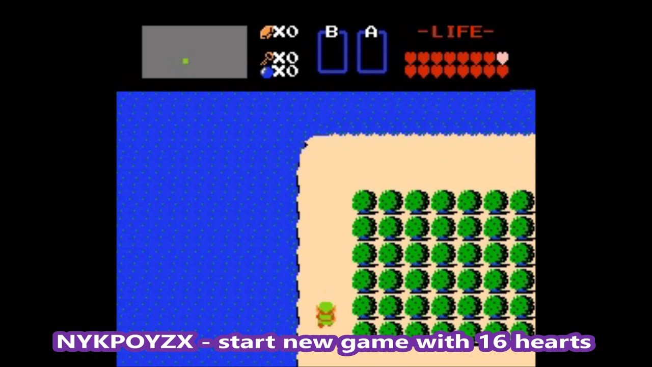 legend of zelda nes emulator cheat
