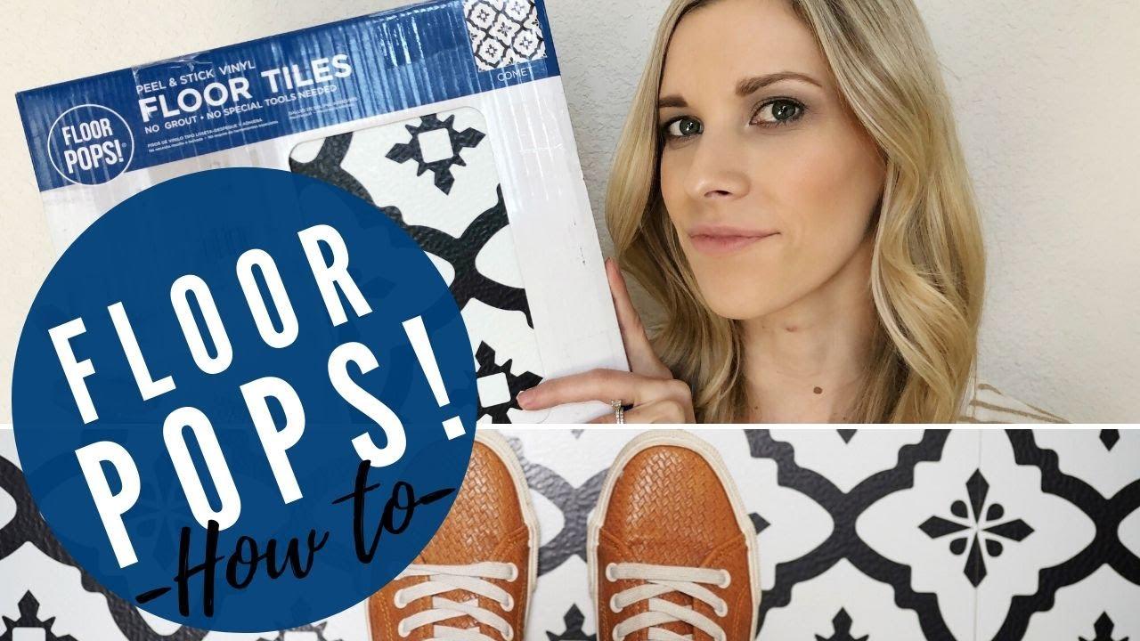 how to install peel and stick vinyl flooring floor pops