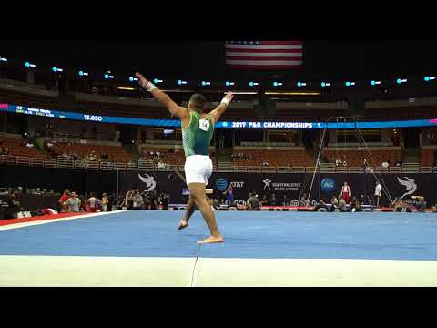 Trevor Howard - Floor Exercise - 2017 P&G Championships - Senior Men - Day 1