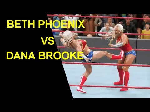 WWE 2K18 Wonder Woman Match - Beth Phoenix vs Dana Brooke