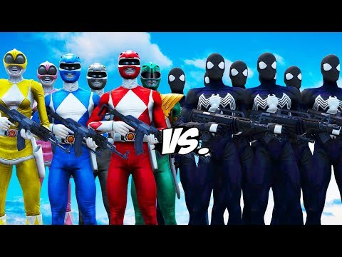MIGHTY MORPHIN POWER RANGERS VS BLACK SPIDER-MAN ARMY
