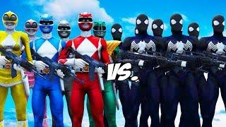MIGHTY MORPHIN POWER RANGERS VS BLACK SPIDER-MAN ARMY
