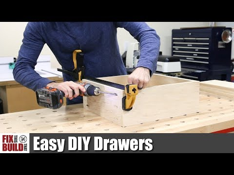 Easy DIY Drawers with Pocket Screws   How to Make