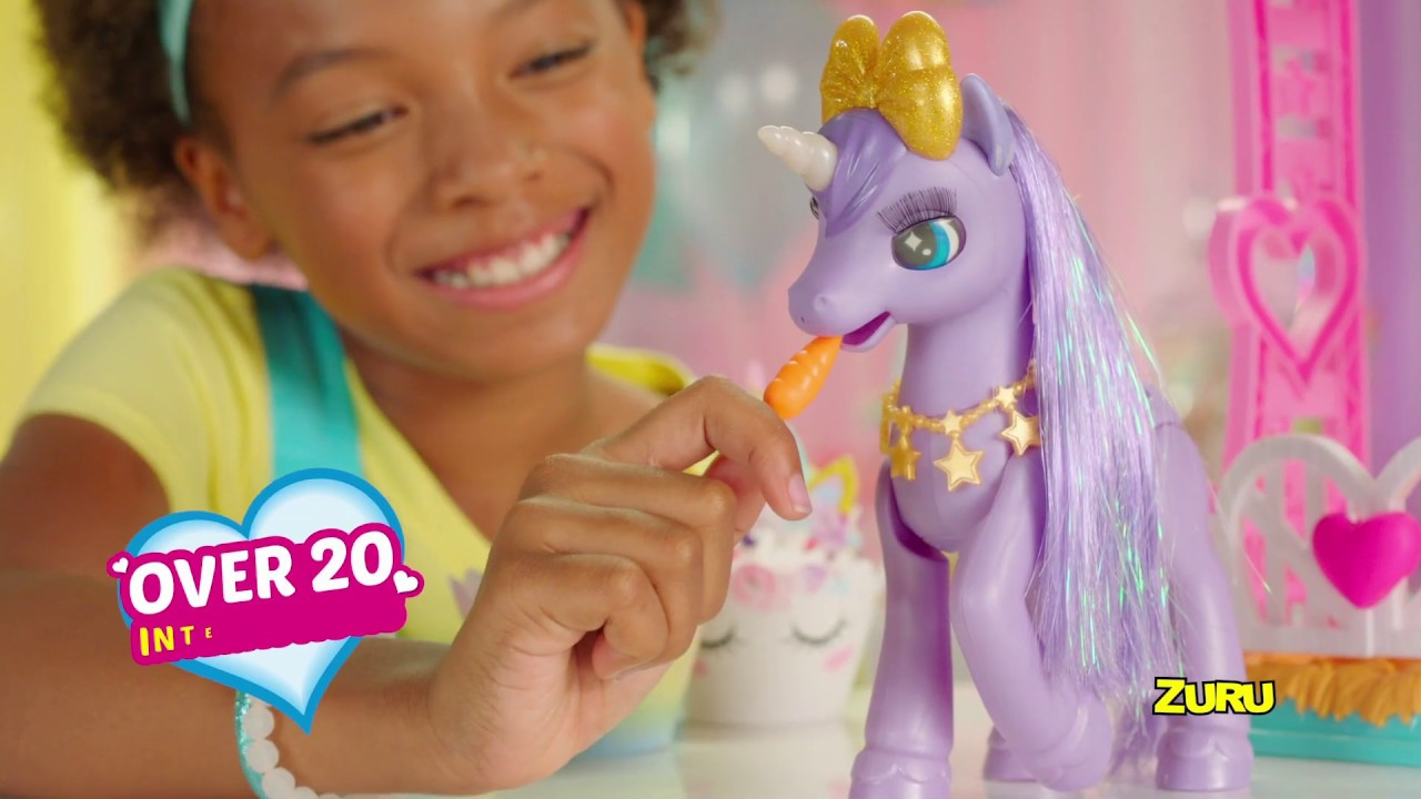 Pets Alive My Magical Unicorn And Stable Playset Smyths Toys