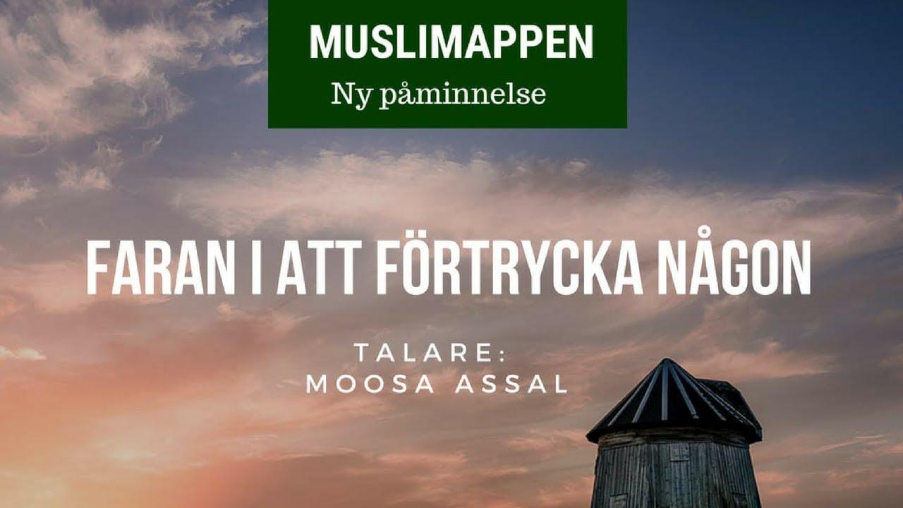Faran i att förtrycka någon | Muslimappen