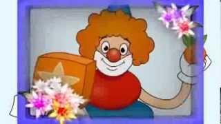 веселый клоун цвета и краски обучающий мультфильм для детей