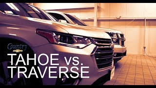 2019 Chevrolet TAHOE vs. TRAVERSE compared!