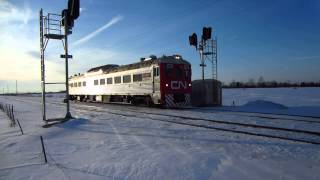 Canadian National Track Evaluation Systems BUDD diesel rail car