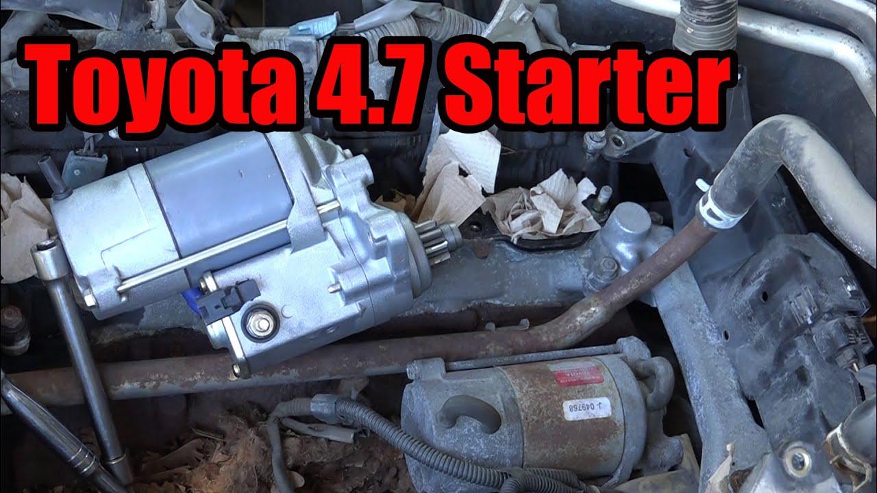Toyota 4 7 Starter Replacement Tundra Sequoia Land Cruiser 4runner Youtube