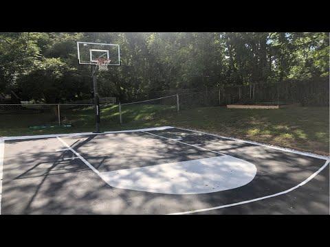 How to build a Backyard Basketball Court - YouTube
