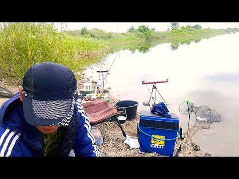 Рыбалка на фидер Караганде река.Нура