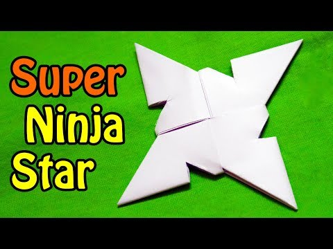 How to make a ninja star super easy
