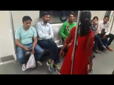 Must Watch..!! Indian women drunk in delhi metro and create scene in Public😬 thumbnail
