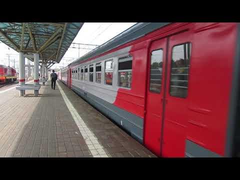 Электропоезда ЭД4М-0285, ЭД2Т-0041 платформа Москва-3 30.05.2019