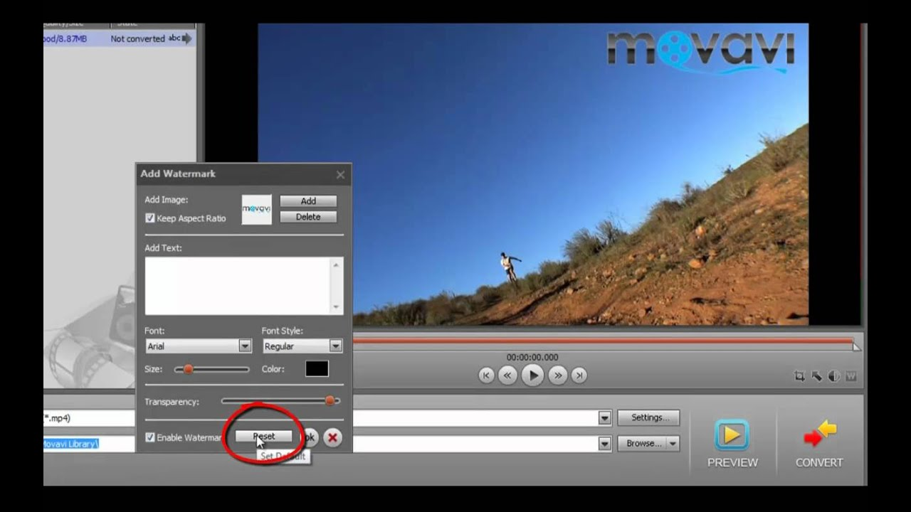 converting a video in movavi video converter 11 adding a