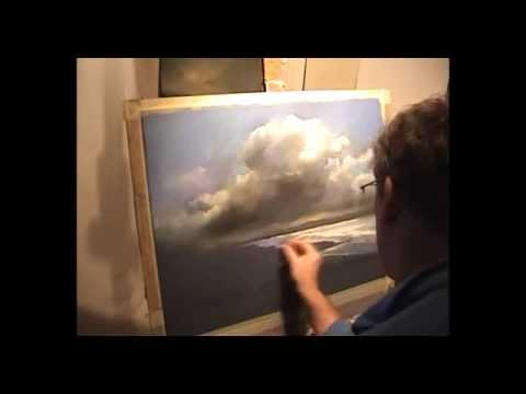Demonstration Of Painting Pastels Storm Clouds And