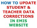 How to Update data Correction in EMIS Website