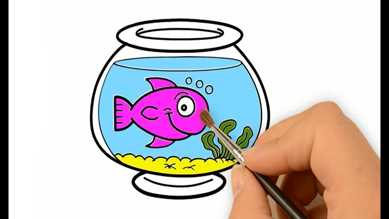 F Is For Fish In Fish Bowl Coloring Page - Download & Print Online ...   720x1280