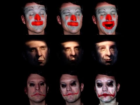 Makeup Lamps: Live Augmentation of Human Faces via Projection