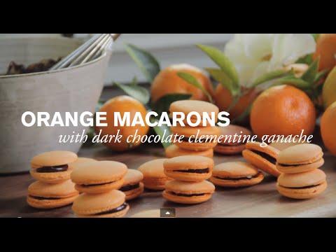 Orange Macaron with Dark Chocolate Ganache   Farm to Table Family PBS Parents