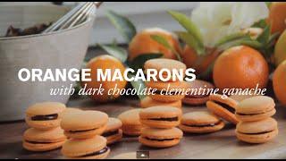 Orange Macaron with Dark Chocolate Ganache  Farm to Table FamilyPBS Parents