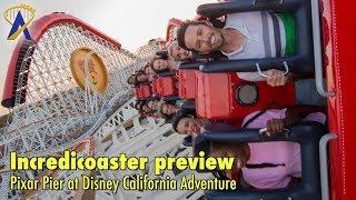 First look at Incredicoaster in Pixar Pier at Disney California Adventure