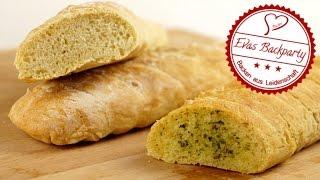 Baguette / Kräuterbutterbaguette / schnell selbstgemacht / Grillbeilage