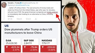 stock market crashed again after Trump tweet