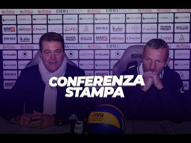 Conferenza stampa - Coach Zanini e il Presidente Bisogno