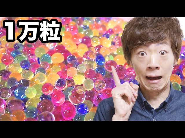 水で膨らむぷよぷよボール1万粒膨らませてみた!